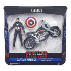 Marvel Legends Civil War 3.75 inch Action Figure with Motorcycle - Captain America
