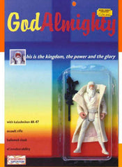 God Action Figure with AK-47