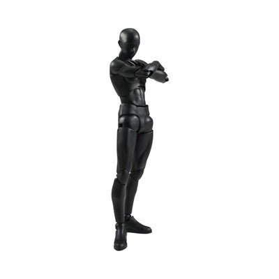 DIY Action Figure - S.H.Figuarts Body-Kun Set - Male (Solid Black) - Bandai - Woozy Moo - 1