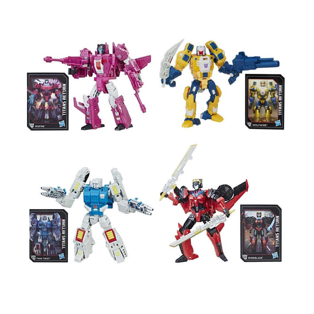 Transformers Generations Titans Return Deluxe Class Wave 5 Set of 4