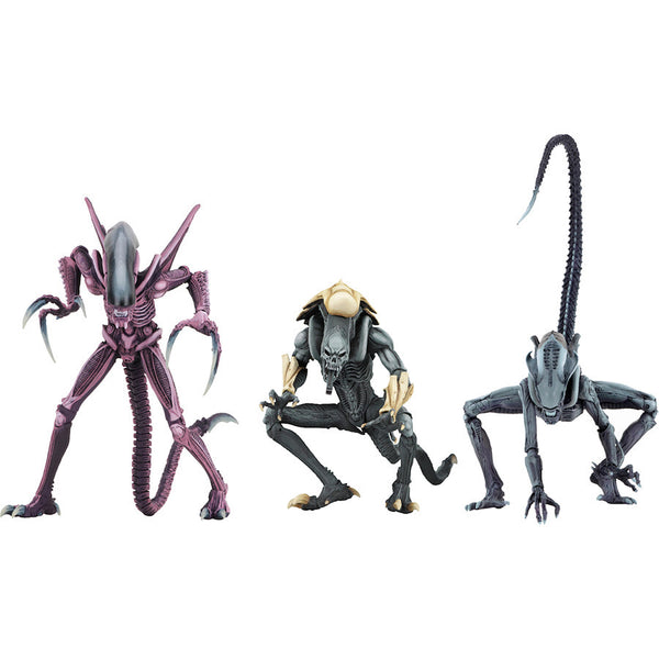 "Alien Assortment (Razor Claws, Chrysalis, Arachnoid) | Alien​ vs Predator​ (Arcade Appearance) | 7"" Scale Action Figures 