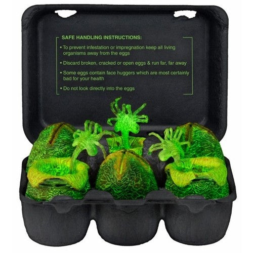 Alien – Glow in the Dark Xenomorph Egg Set in Collectible Carton - NECA - Woozy Moo - 1