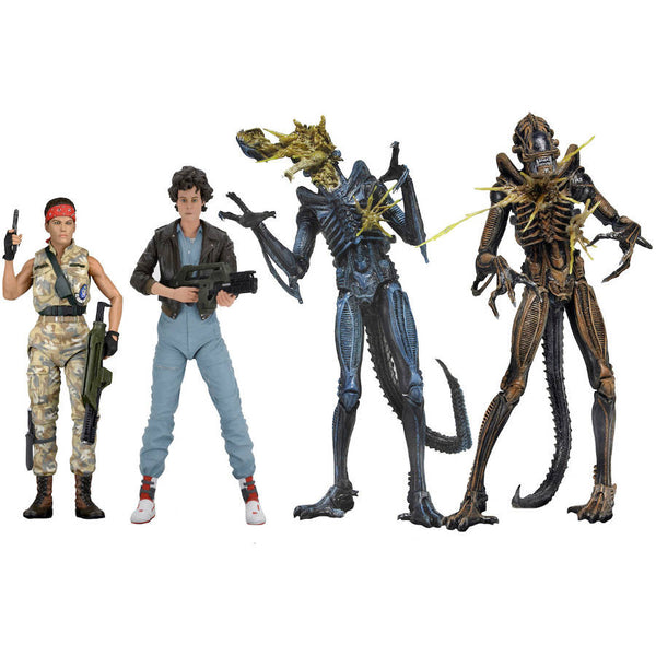 "Series 12 Assortment (Lt. Ellen Ripley Bomber Jacket, Private Jenette Vasquez BDUs, Battle-Damaged Alien Warriors) | Aliens | 7"" Scale Action Figures 