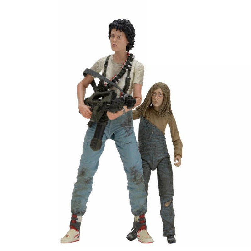 Ripley & Newt Deluxe 2 Pack - Aliens - 7'' Scale Action Figure - 30th Anniversary - NECA - Woozy Moo - 1