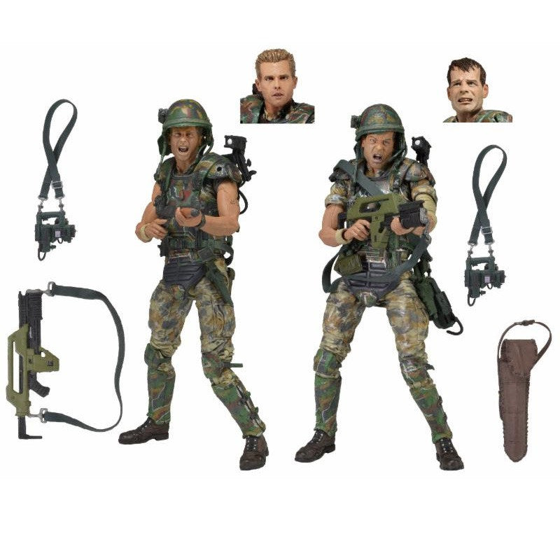 "Aliens - 7"" Scale Action Figures - Colonial Marines 30th Anniversary 2-Pack - NECA - Woozy Moo - 1"