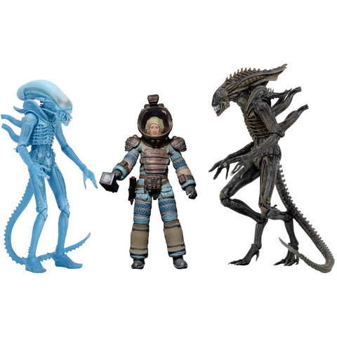 "Aliens - Series 11 Assortment 7"" Scale Action Figures Set of 3"