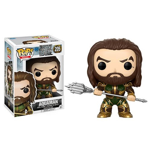 Aquaman (Jason Momoa) - DC Justice League (2017) - Pop! Heroes Vinyl Figure - Funko - Woozy Moo