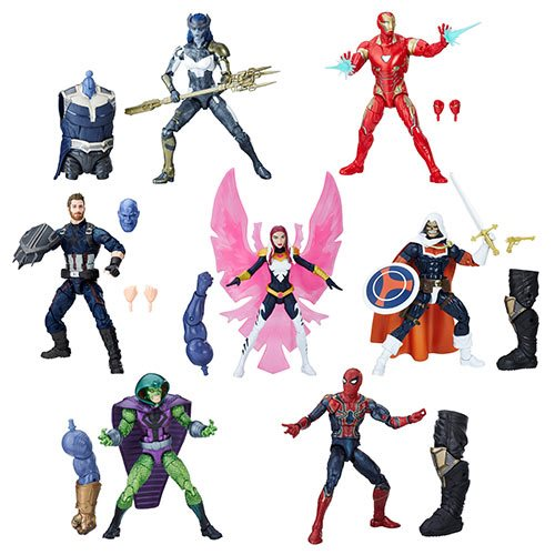 "Avengers Infinity War Wave 1 (Thanos BAF) Marvel Legends 6"" Action Figures Case of 8 