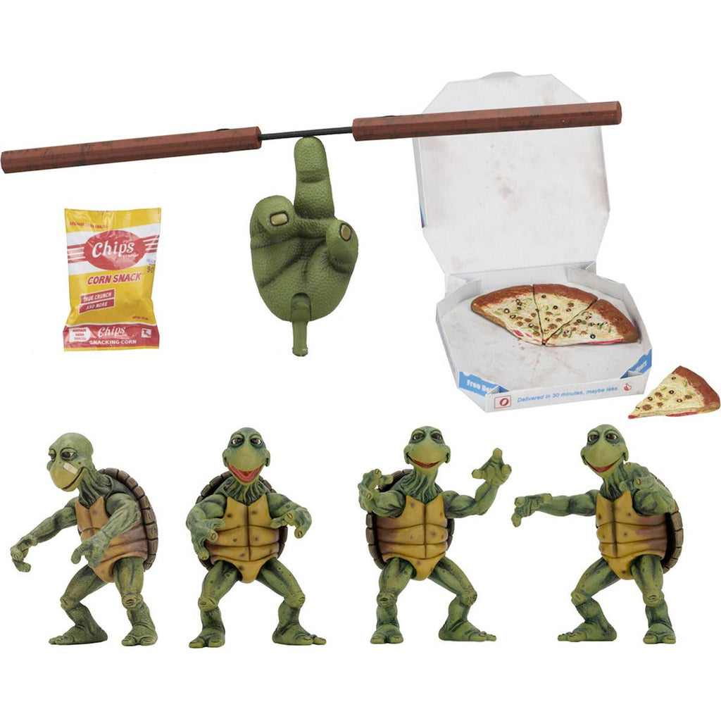 "Baby Turtles Set | Teenage Mutant Ninja Turtles (1990 film) | 1/4 Scale 4"" Action Figures"
