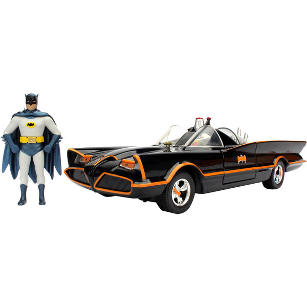 Batmobile & Batman | DC 1966 Batman Classic TV Series | METALS DIE CAST vehicle with figure | Jada Toys | Woozy Moo