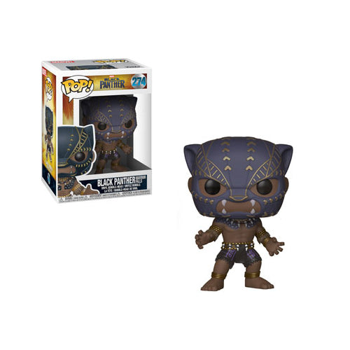 Funko POP! Marvel Black Panther 274 Black Panther (Warrior Falls) Vinyl Figure | 2018 film, Marvel Cinematic Universe | Woozy Moo