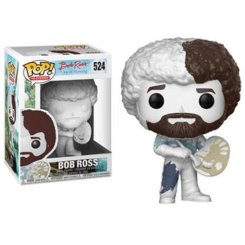 Bob Ross (Do-It-Yourself) EXCLUSIVE | The Joy of Painting | POP! Televsion Vinyl Figure 524 | Funko | Woozy Moo