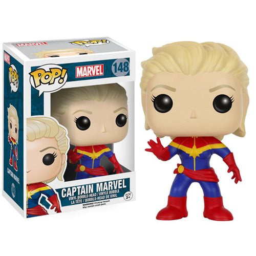 Marvel Unmasked Captain Marvel Pop! Vinyl Figure - Funko - Woozy Moo