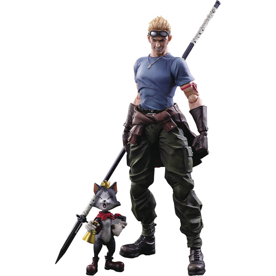 Cid Highwind & Cait Sith | Final Fantasy VII: Advent Children (FF7AC) | Play Arts Kai Action Figure | Square Enix | Woozy Moo