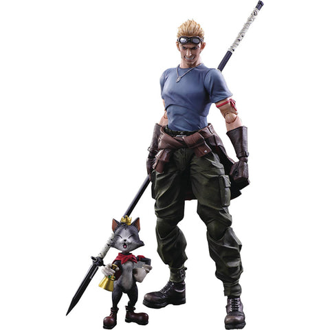 Cid Highwind & Cait Sith - Final Fantasy VII: Advent Children - Play Arts Kai