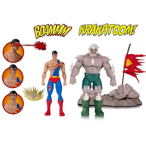 "DC Icons - Doomsday & Superman (Death of Superman) 6"" Figures 2-Pack Deluxe - DC Collectibles - Woozy Moo"