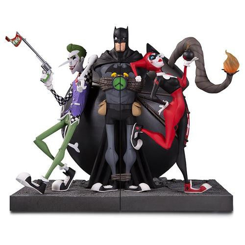 DC The Joker & Harley Quinn Bookend Set