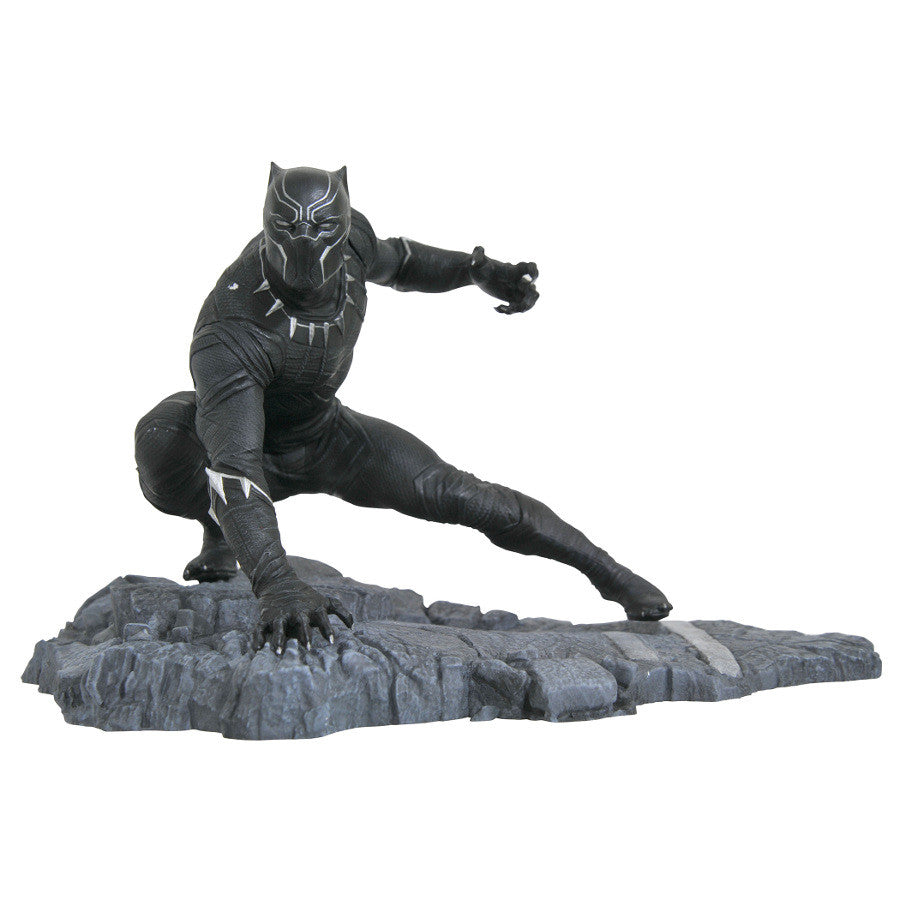Black Panther (T'Challa) - Marvel Gallery PVC Diorama Figure - Diamond Select Toys - Woozy Moo