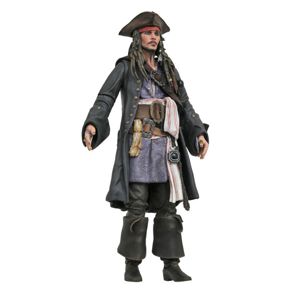 "Jack Sparrow - Pirates of the Caribbean: Dead Men Tell No Tales - 7"" scale action figure - Diamond Select Toys - Woozy Moo"