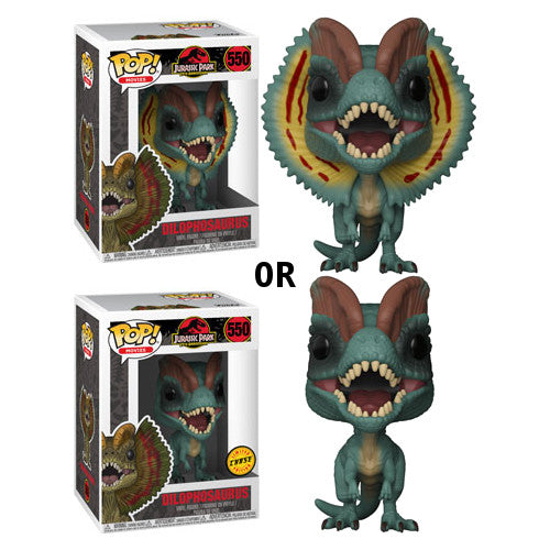 Dilophosaurus (with chance of CHASE) | Jurassic Park | POP! Movies Vinyl Figure 550 | Funko | Woozy Moo