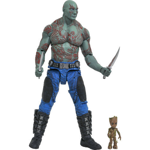 Drax & Baby Groot | Guardians of the Galaxy Vol. 2 (Marvel Cinematic Universe) | Marvel Select Action Figure | Diamond Select Toys / Gentle Giant | Woozy Moo