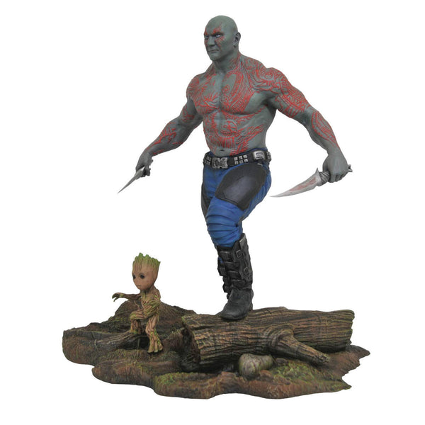 Drax and Groot - Marvel Gallery Guardians of the Galaxy Vol. 2 - PVC Diorama Figure - Diamond Select Toys - Woozy Moo