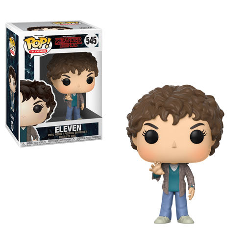Eleven (Millie Bobby Brown) | Stranger Things (Netflix TV) | POP! Television Vinyl Figure 545 | Funko | Woozy Moo