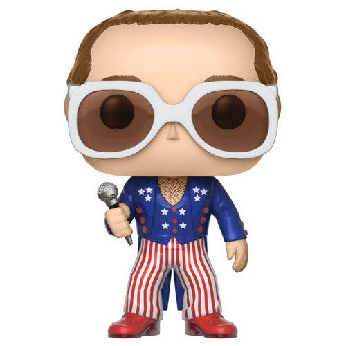 Elton John (RED WHITE BLUE) | POP! Rocks Vinyl Figure | Funko | Woozy Moo