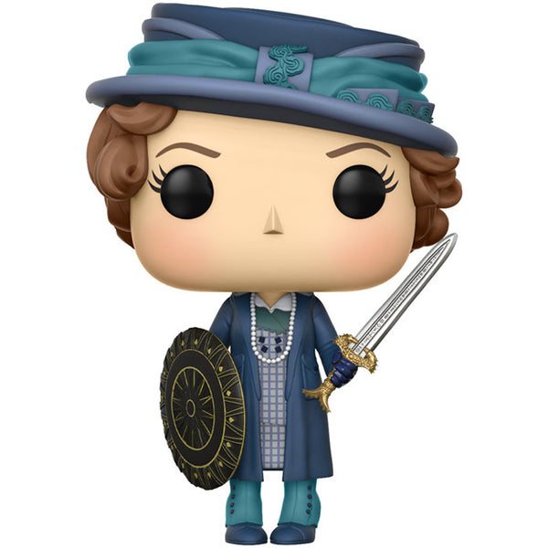 Etta with Sword and Shield | Wonder Woman (2017, DC Cinematic Universe) | POP! Heroes Vinyl Figure | Funko | Woozy Moo