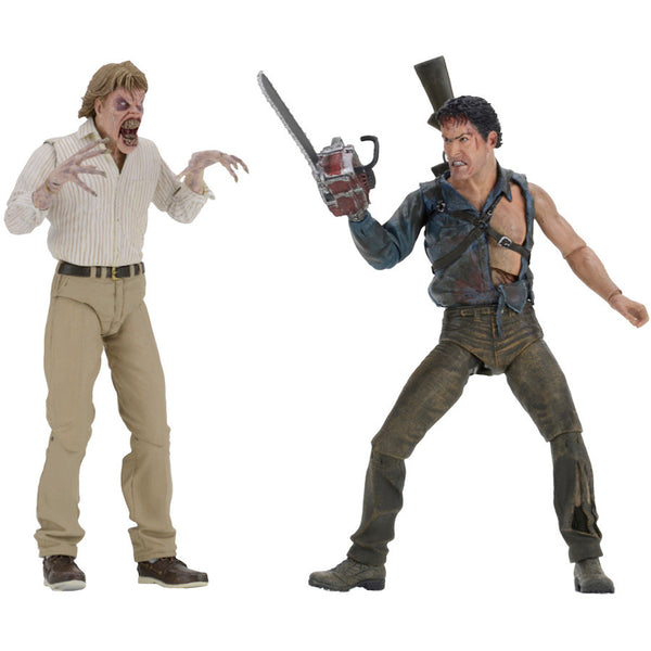 "Evil Dead 2 - Hero Ash & Evil Ed 30th Anniversary 2-Pack 7"" Scale Action Figures - NECA - Woozy Moo"