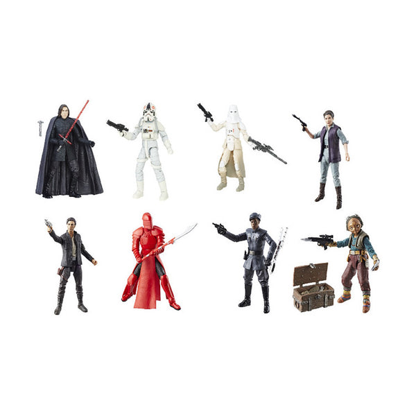 "Kylo Ren, AT-AT Driver, Snowtrooper, Leia, Poe, Elite Praetorian Guard, Finn, Maz (Case of 8) | Star Wars Episode VIII The Last Jedi | The Black Series 6"" Action Figures 