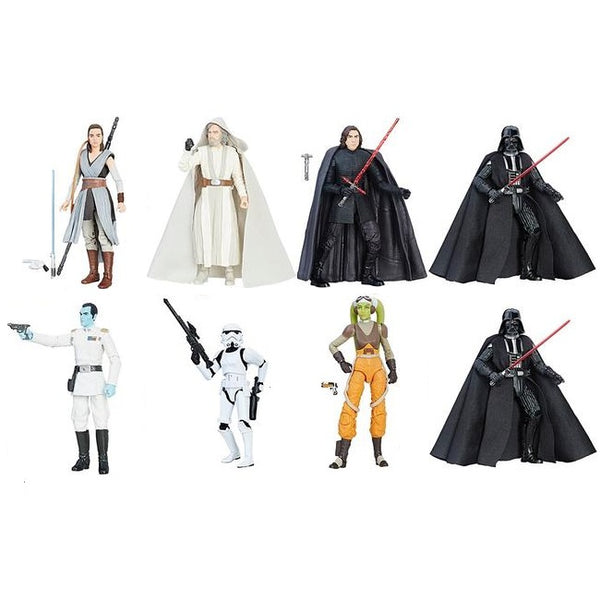 "Darth Vader, Kylo Ren, Rey, Luke Skywalker, Grand Admiral Thrawn, Hera Syndulla, Stormtrooper (Case of 8) | Star Wars | The Black Series 6"" Action Figures 