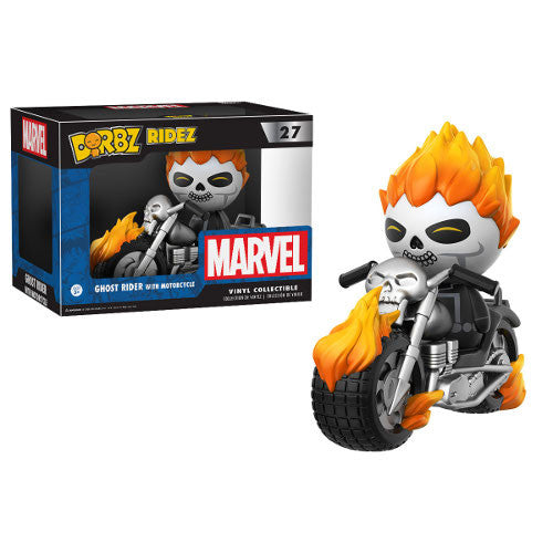 Ghost Rider with motorcycle - Marvel - Dorbz Ridez Vinyl Collectible - Funko - Woozy Moo