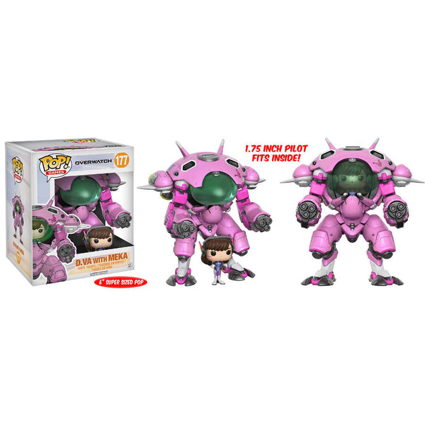 "Pop! Games - Overwatch - D.Va with MEKA - Vinyl Figure - 6"" Super-Sized Pop & Buddy 2-Pack - Blizzard - Funko - Woozy Moo"
