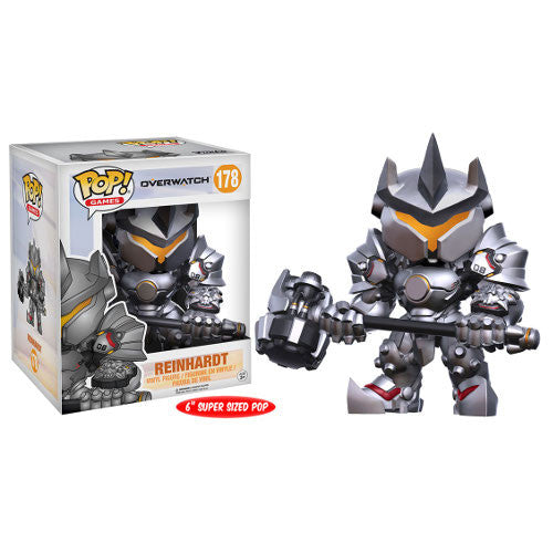 "Pop! Games - Overwatch - Reinhardt - Vinyl Figure - 6"" Super-Sized - Blizzard - Funko - Woozy Moo"