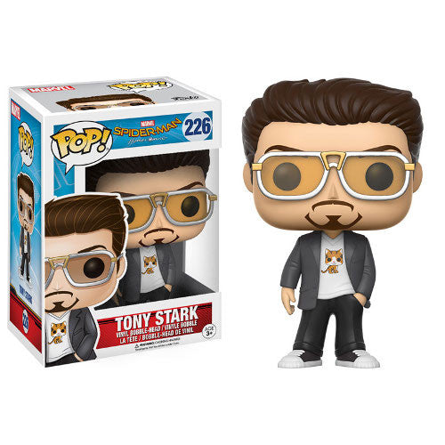 Marvel Spider-Man: Homecoming - Tony Stark Pop! Vinyl Bobble-head - Funko - Woozy Moo