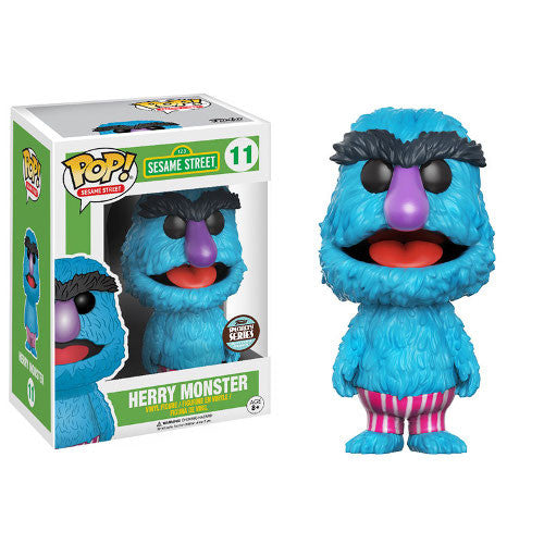 Sesame Street Pop! Vinyl Figure - Herry Monster - Exclusive - Funko - Woozy Moo