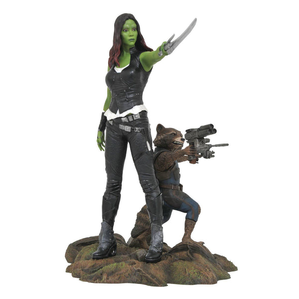 Gamora & Rocket Raccoon - Marvel Gallery Guardians of the Galaxy Vol. 2 - PVC Diorama Figure - Diamond Select Toys - Woozy Moo
