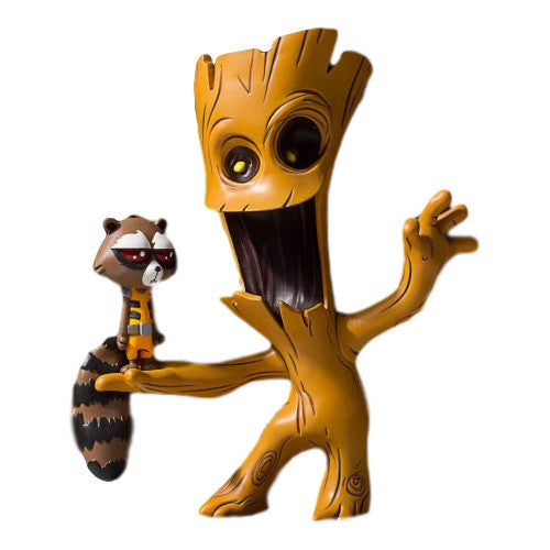 Marvel Groot and Rocket Animated Statue - Gentle Giant - Gentle Giant - Woozy Moo - 1