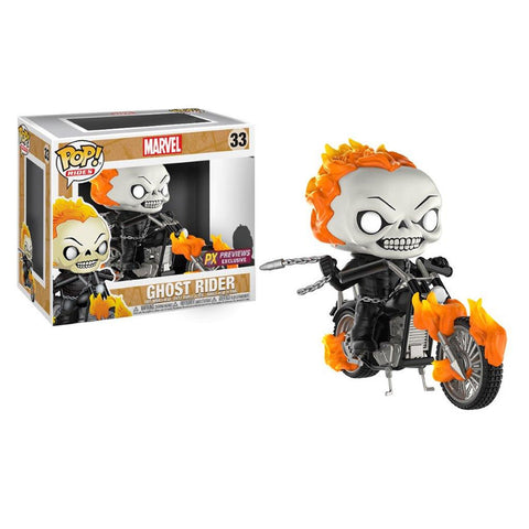 Ghost Rider Marvel Pop Rides Vinyl Figure 33 Exclusive