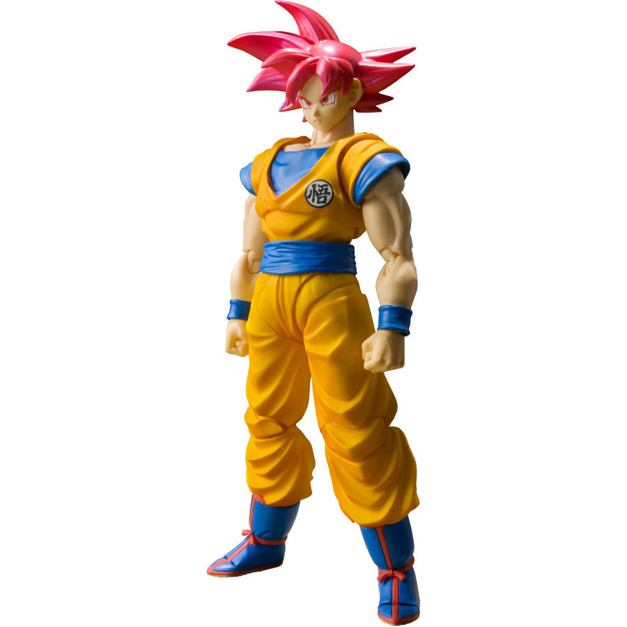Super Saiyan God Red Goku (孫 悟空, Son Gokū, Son Gokuu) - Dragon Ball Super - S.H.Figuarts - Bandai Tamashii Nations - Woozy Moo