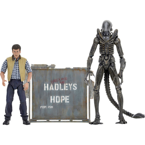 "Hadley's Hope Set (Carter Burke, James Cameron Concept Alien Warrior with Dome) | Aliens | 7"" Scale Action Figures 