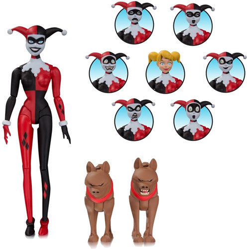 Harley Quinn Expressions Pack | Batman: The Animated Series | Action Figure Pack | DC Collectibles | Woozy Moo