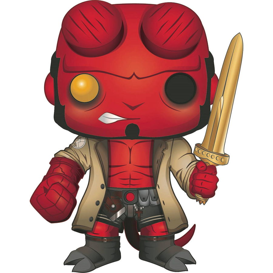 Hellboy with Excalibur (Previews Exclusive) | Hellboy | POP! Comics Vinyl Figure | Funko | Woozy Moo