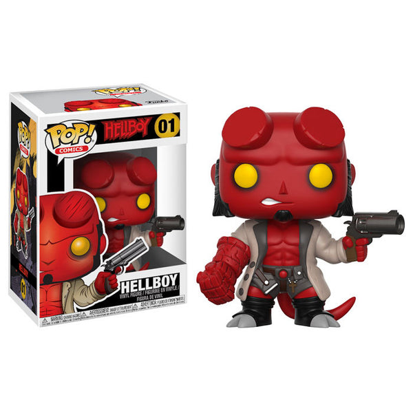 Hellboy with Jacket | Hellboy | POP! Comics Vinyl Figure 01 | Funko | Woozy Moo