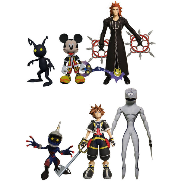 Kingdom Hearts Series 1 Assortment Set of 6 - Disney / Square Enix - Select Action Figures - Diamond Select Toys / Gentle Giant Studios - Woozy Moo