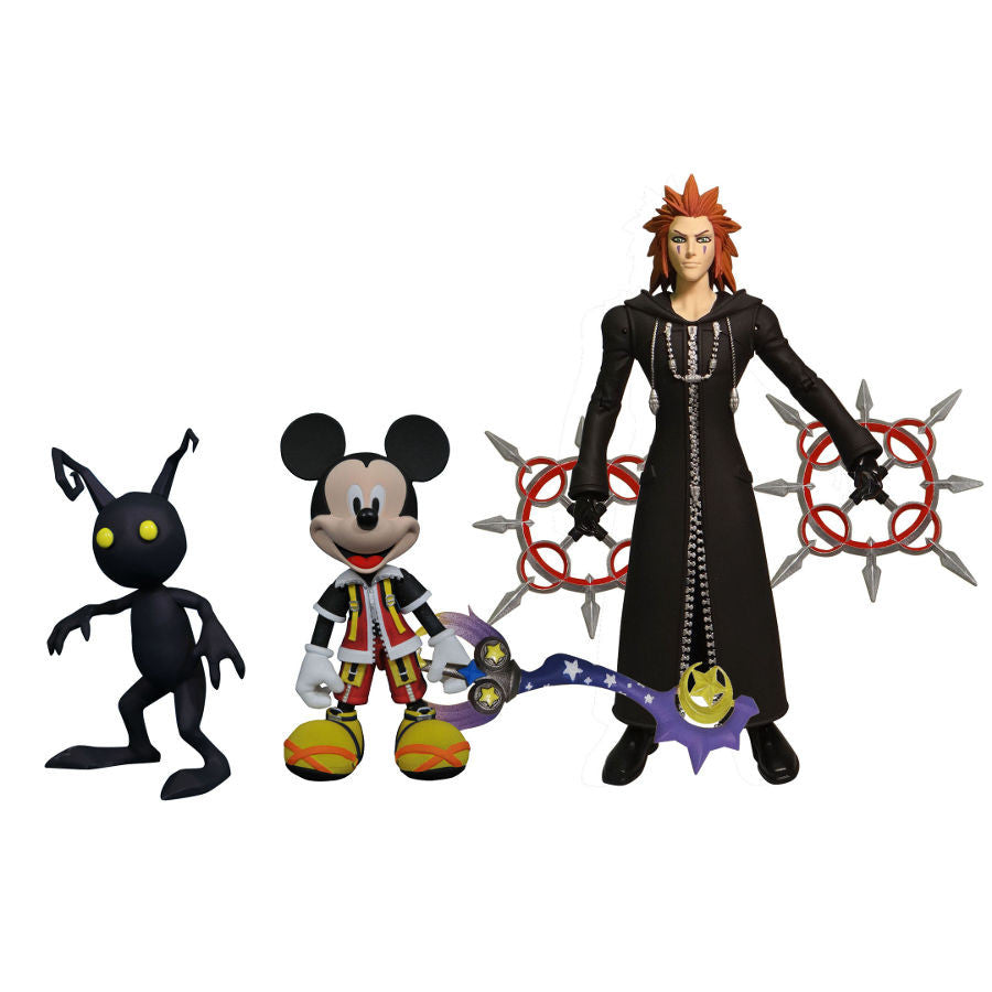 Kingdom Hearts Series 1 Set 1 (Shadow, Mickey Mouse, Axel) - Kingdom Hearts II (Disney / Square Enix) - Select Action Figures - Diamond Select Toys / Gentle Giant Studios - Woozy Moo