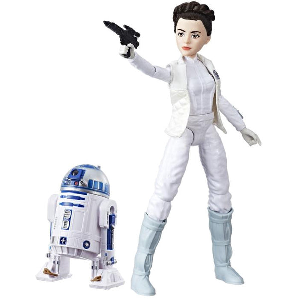 Princess Leia Organa & R2-D2 (Artoo-Detoo) | Star Wars: Forces of Destiny | Adventure Figure & Friend | Hasbro | Woozy Moo