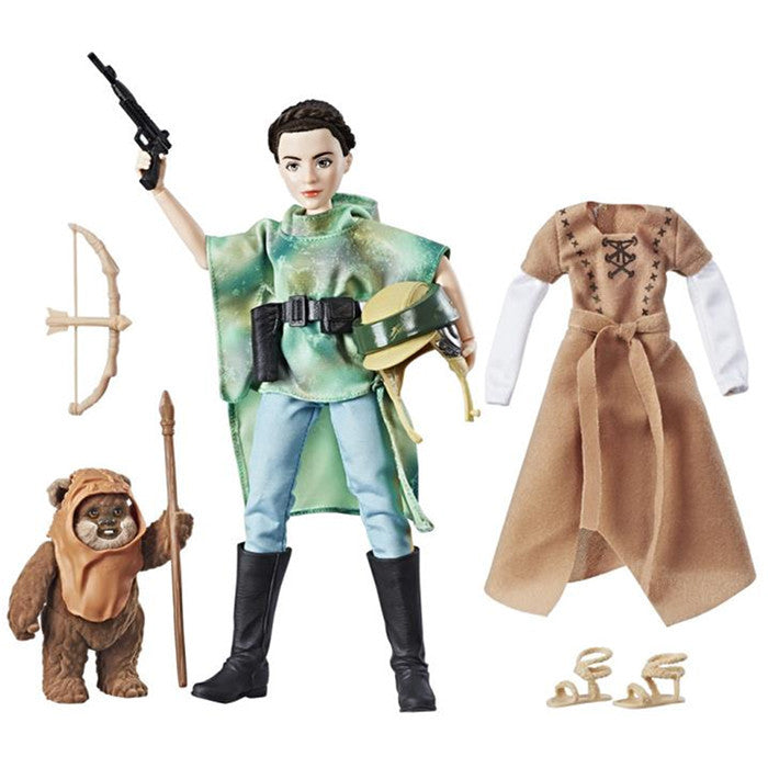 Princess Leia Organa & Wicket the Ewok | Star Wars: Forces of Destiny | Endor Adventure | Hasbro | Woozy Moo