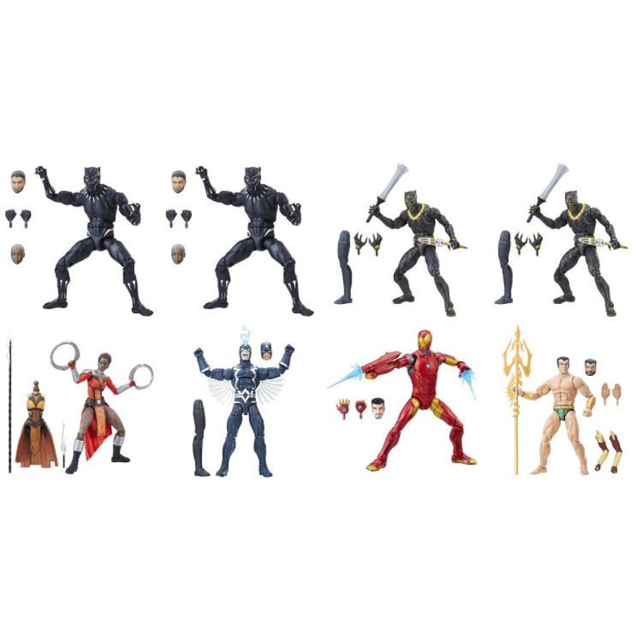 "Marvel's Black Panther (Build-A-Figure: Okoye) Case of 8 | Marvel Cinematic Universe 2018 | Legends Series 6"" Action Figure 